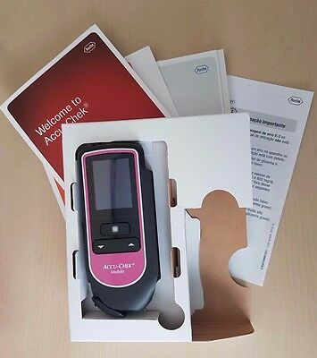 Accu Chek Mobile Blood Glucose Monitor/Meter/System **PINK LIMITED EDITION**