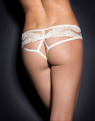 Agent Provocateur LACY OUVERT in IVORY SATIN & FRENCH LACE - AP Size 4 - BNWT