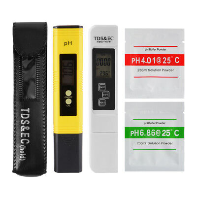 Digital LCD PH Meter TDS EC Water Purity Temp PPM Filter Temperature Tester Pen