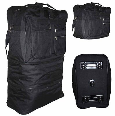Xxl Wheeled Cargo Duffle Floding Holder Travel Expandable Holdall Travel Bag New