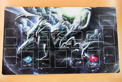 E33+ Free Mat Bag Blue Eyes Ultimate Dragon Yugioh TCG Custom Playmat With Zones