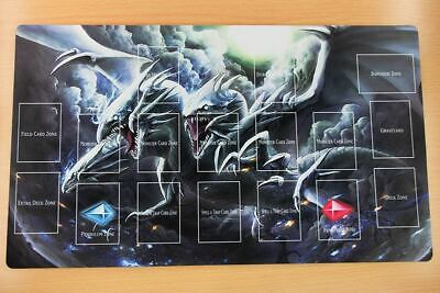 F1348 Free Mat Bag Blue Eyes Ultimate Dragon Yugioh TCG Custom Playmat Zones