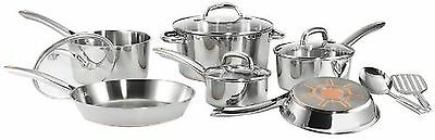 T-fal C836SC Ultimate Stainless Steel Copper Bottom Cookware Set  12-Pieces S...