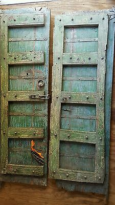 Exterior Double Doors from India Hand Crafted Vintage Solid Wood Architectural