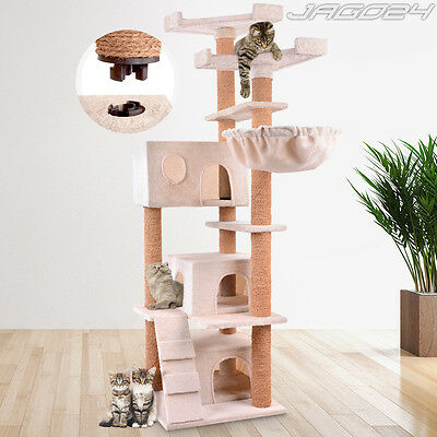 Cat Tree Scratching Post Scratcher Bed Climbing Toy Activity Centre 164.3 cm