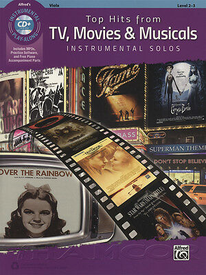 Top Hits from TV, Movies & Musicals Viola Sheet Music Book & CD Instrumental