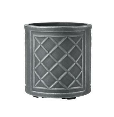 Stewart 5107031 32 cm Round Lead Effect Planter - Pewter