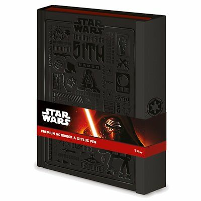 NEW OFFICIAL Star Wars (Icongraphic) Premium A5 Notebook With Pen HARDBACK COVER