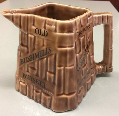 Vintage Old Bushmills Whiskey Pitcher Arklow Republic Of Ireland