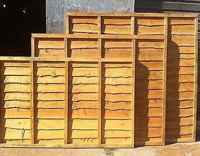 Wayney Lap Fence Panels Dipped 6ft(w) x 2/3/4/5/6