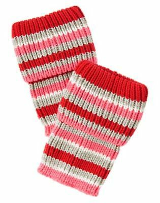 Nwt Gymboree Polar Pink Red/Pink/Gray Striped Boot Cuffs One Size