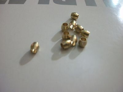 "Lot of 10 New 1/8"" Compression Sleeves Ferrules ,BRASS COMPRESSION FITTING"