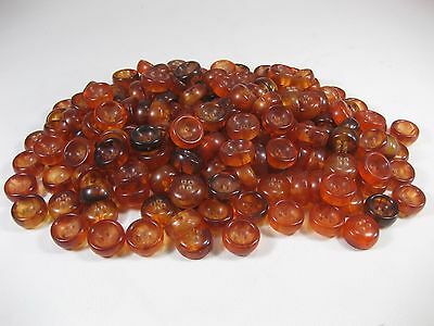 Vtg. 22mm Plastic 4 Hole Amber Colored Buttons  600g  Vintage Stock !!