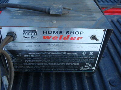 Montgomery Wards portable 120 V stick & Arc Torch Mobile Welder Home & Shop