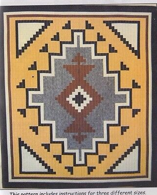 Two Gray Hills - Native American Rug style pieced quilt PATTERN