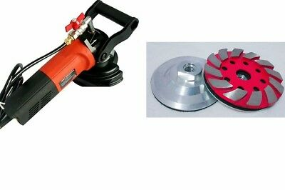 Wet Polisher stone concrete masonry 3 grinding cup grind down high spot lippage