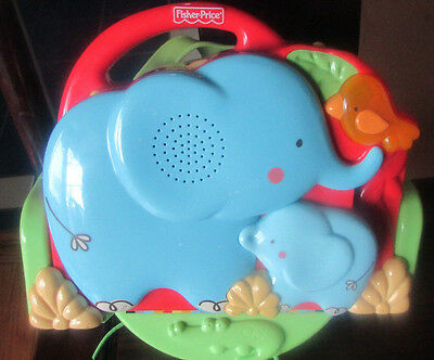 Fisher Price Luv U Zoo Elephant Soother Projector Crib N Go 2 PC