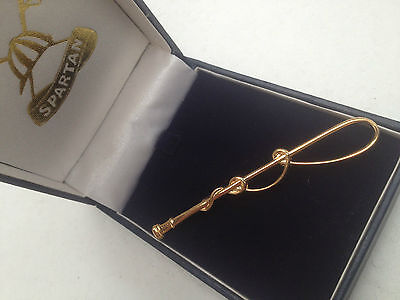 Spartan Golden Whip Tie Pin Dressage Showing Equestrian