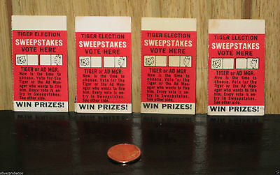 Vintage Enco Humble Oil Gas Co Tiger Election Sweepstakes Ticket Stubs Lot Of 4