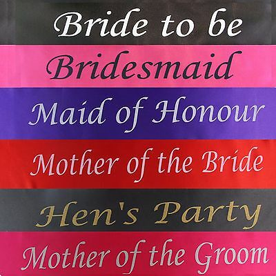 Bulk Bargain 8 Piece Combo Pack: Hens Night Bridal Sash Sashes Bachelorette