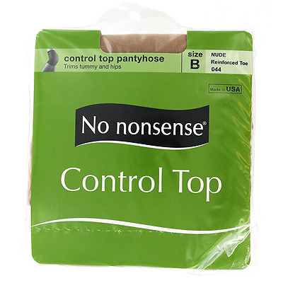 No Nonsense Control Top Pantyhose, Size B, Nude 1 ea (Pack of 2)