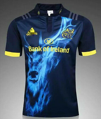 NEW 2017 munster away rugby jersey T shirt tee SIZE:S-3XL