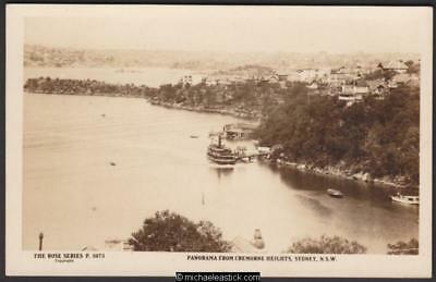 Panorama from Cremorne Heights, Sydney, NSW, Unused postcard, Rose Series P 5073