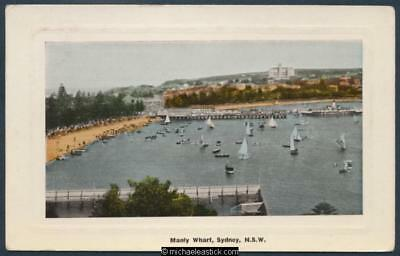 Manly Wharf. The Harbour beach at Manly.