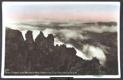 Three Sisters and Mountain Mist, Katoomba, Blue Mountains, N.S.W.