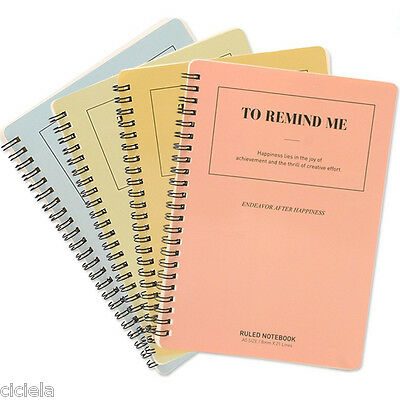 A5 Spiral Coil Notebook Diary School Student Memo Pad Note Book Office Supplies