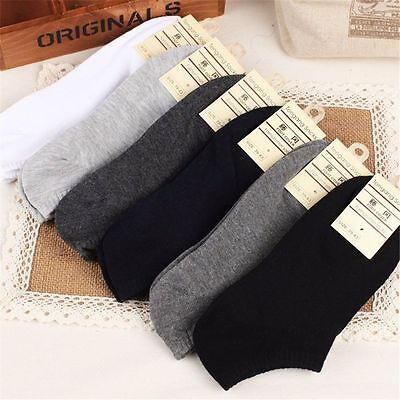 New Men Casual Sports Socks Crew Ankle Low Cut Cotton Socks 9-12
