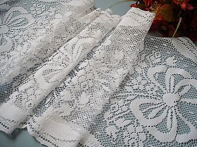 "Vintage French style lace 51"" long Runner roses and ribbon"