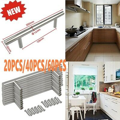 Lot 20/40/60 Stainless Steel Pull Bar Handle For Drawer Kitchen Cabinet Modern