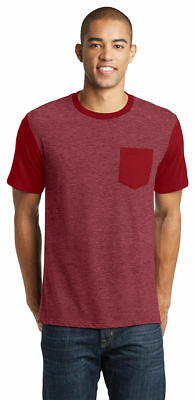 District New Young Men's Short Sleeve 100% Cotton Basic Tee XS-4XL. DT6000SP