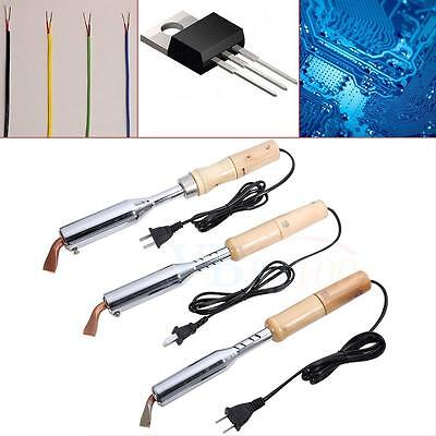 100/150/200W Electric Wood Handle Tool Soldering Iron Solder Welding Chisel Tip