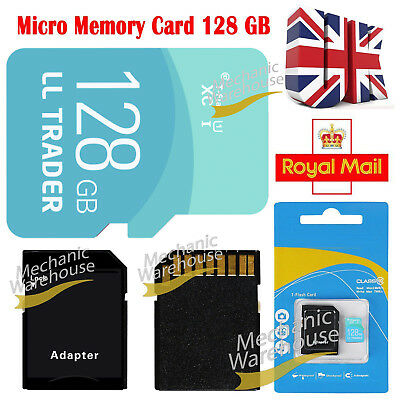 128GB Micro SD Card Class 10 Flash Memory SDHC SDXC for Mobiles Laptops Cameras