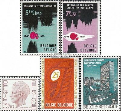 Belgium 1598-1599,1600,1601,1602 mint never hinged mnh 1970 special stamps