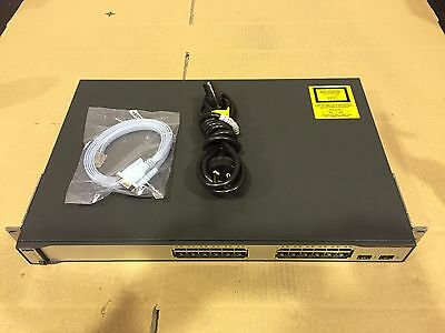 Cisco WS-C3750-24TS-S Switch with Console & Power Cable and Rack Mount Kit