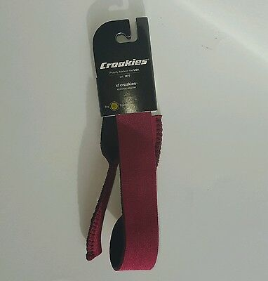 New XL Red Croakies Eyewear Retainer Sunglasses Eyeglasses Strap