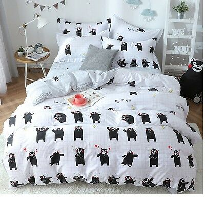 2017 Kumamon Bedding Set 4pc Queen King Bed Red Cotton RARE