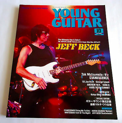 JEFF BECK YOUNG GUITAR JAPAN MAG Oct-2003 Alexi Laiho Uli Jon Roth George Lynch