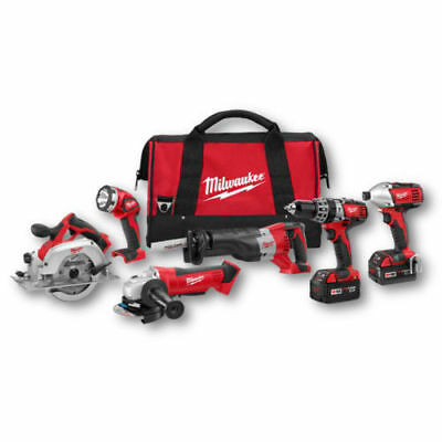 Milwaukee M18 18V Li-Ion 6-Tool Combo Kit 2696-26 New