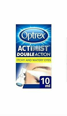 Optrex ActiMist 2in1 Eye Spray for Itchy + Watery Eyes - 10ml  fast relief..