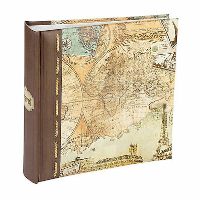 """Kenro Old World Map Photo Album 6x4""""/7x5"""" Holds 200 Pictures Memo Photographs"""