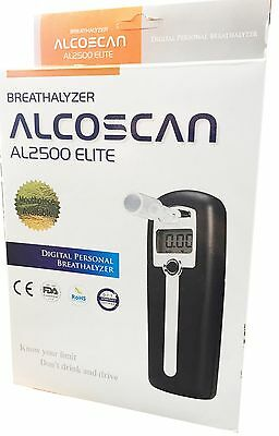 AlcoScan AL2500 Elite Digital Breathalyzer Portable Alcohal Digital Breathalyser