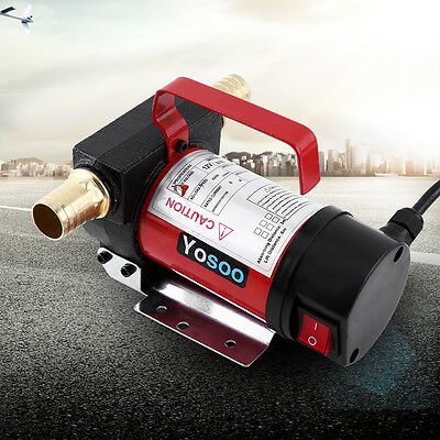 DC 12V Electric Fuel Oil Diesel Transfer Pump Vehicle Truck 40L/min Self-priming