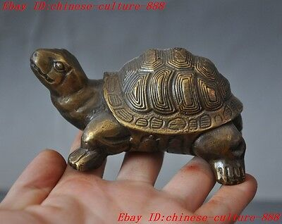 old chinese fengshui bronze auspicious animal turtle tortoise statue sculpture