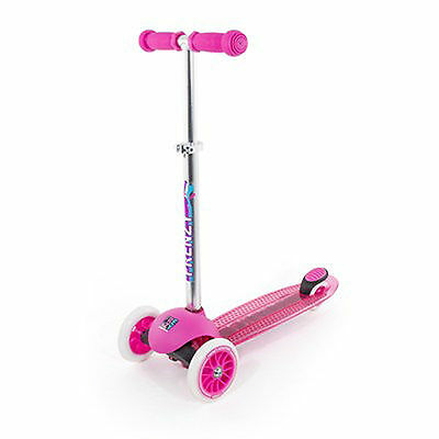 Frenzy Scooters 3 Wheeled Kids Scooter, Pink