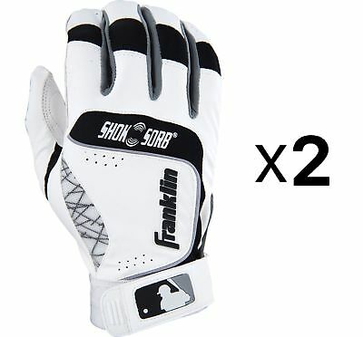 Franklin Sports - Shok-Sorb NEO Batting Gloves Small Leather (2-Pack)