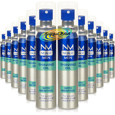 12x Nuage Men Shaving Oil With Menthol 25ml